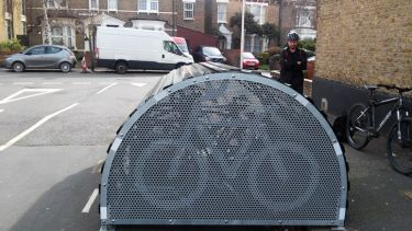 A cycle hangar in Waltham Forest