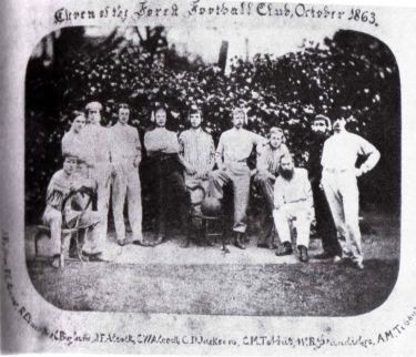 A photo of the team taken in 1863